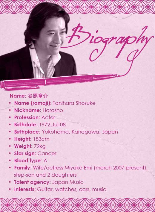 TANIHARA * THE MAN Biography