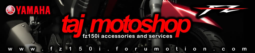 taj motoshop: fz150i services and accessories