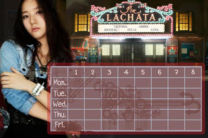 (Time table) ตารางเรียน F(x) Lachata FX-KT