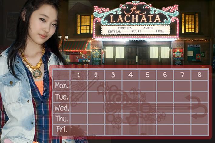 (Time table) ตารางเรียน F(x) Lachata FX-SL