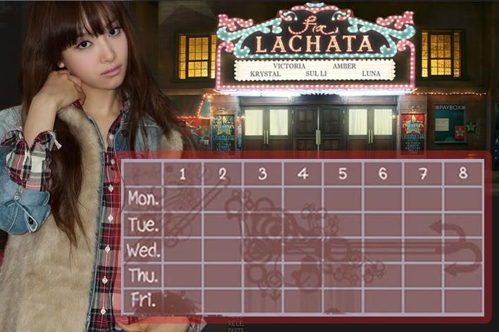 (Time table) ตารางเรียน F(x) Lachata FX-VTR
