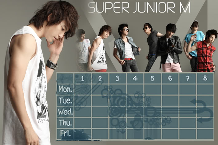 (Time table)ตารางเรียน Super Junior-M / 15.- SuperjuniorM-DH