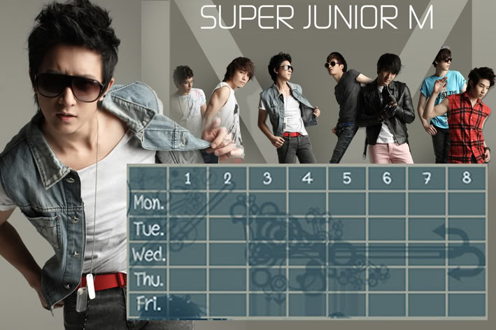 (Time table)ตารางเรียน Super Junior-M / 15.- SuperjuniorM-HG
