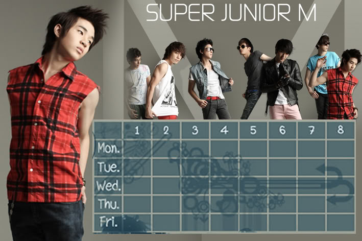 (Time table)ตารางเรียน Super Junior-M / 15.- SuperjuniorM-HR