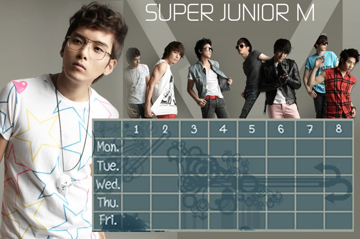(Time table)ตารางเรียน Super Junior-M / 15.- SuperjuniorM-RW