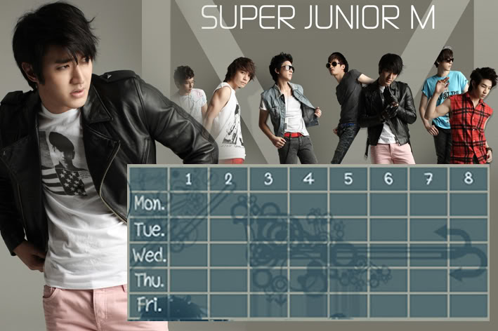 (Time table)ตารางเรียน Super Junior-M / 15.- SuperjuniorM-SW