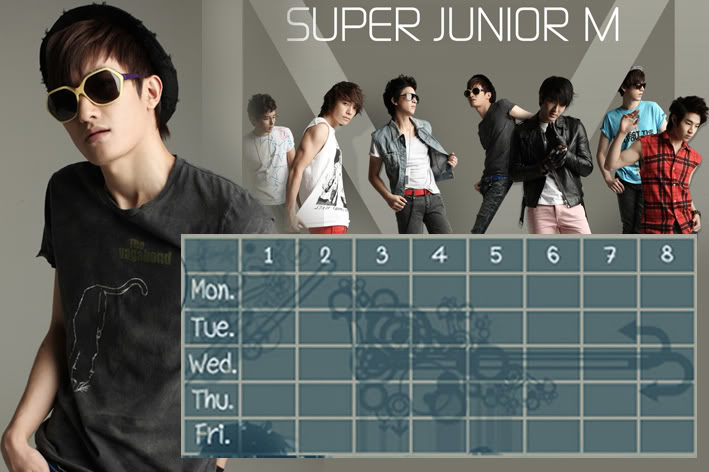 (Time table)ตารางเรียน Super Junior-M / 15.- SuperjuniorM-ZM