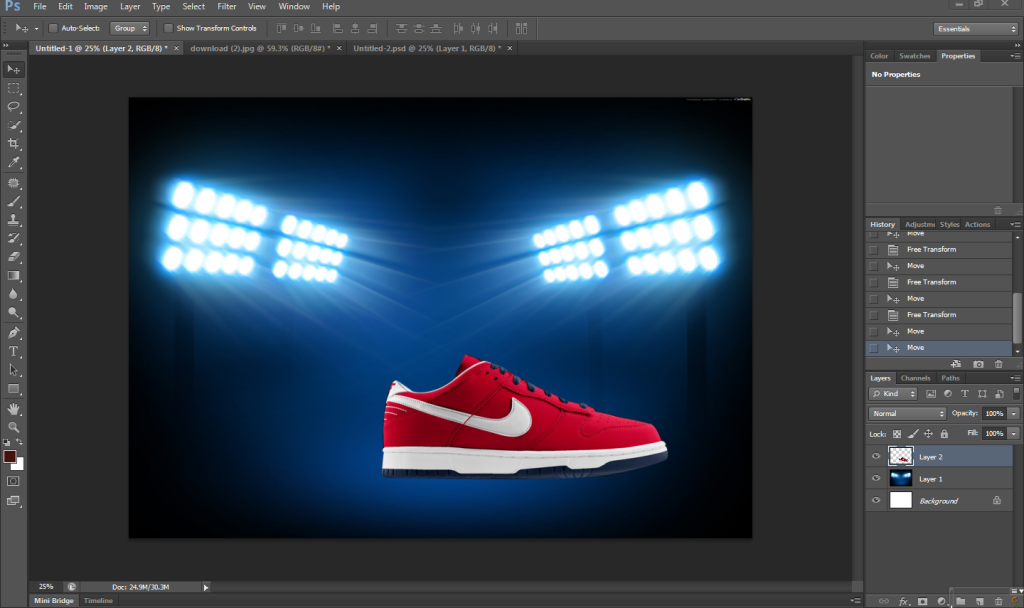 [TUT Ps] Design Poster Nike Dunk 4