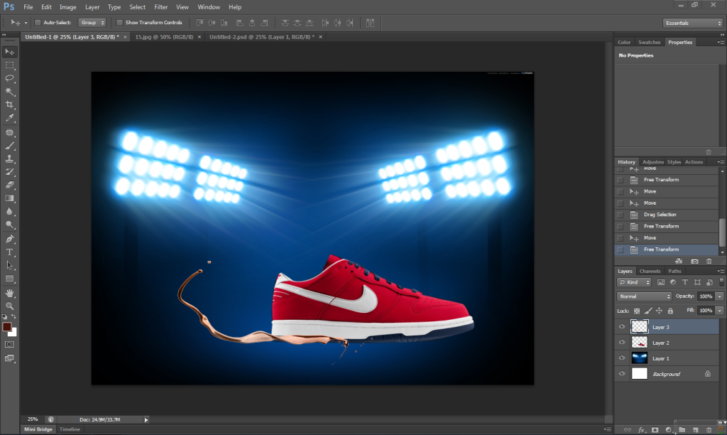 [TUT Ps] Design Poster Nike Dunk 5