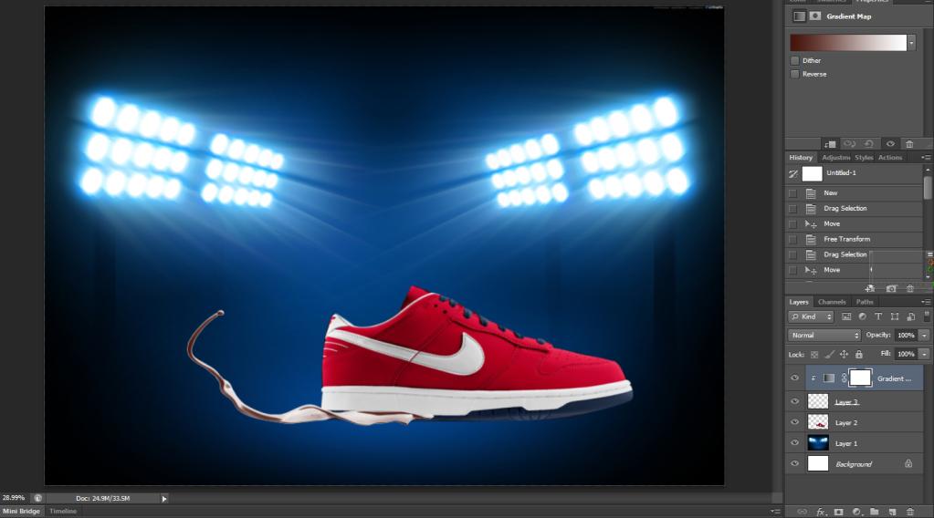 [TUT Ps] Design Poster Nike Dunk 7