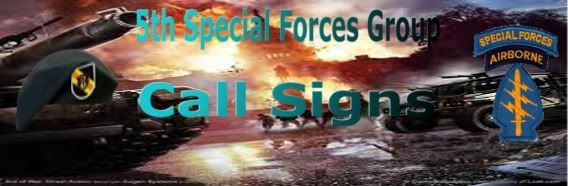 5th Special Forces Call Signs CallSings