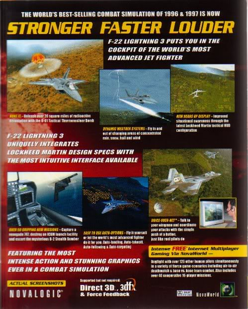 F22 lightning 3 (Flight simulation) Boxbk