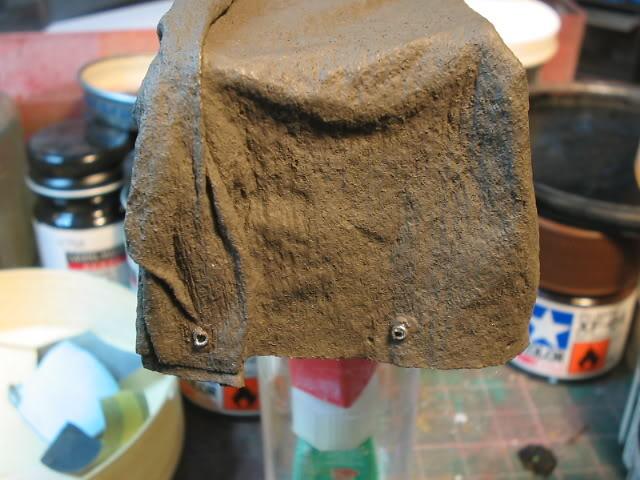 Fabrication d'une bâche (déroulée) au 1/35 Bachefini