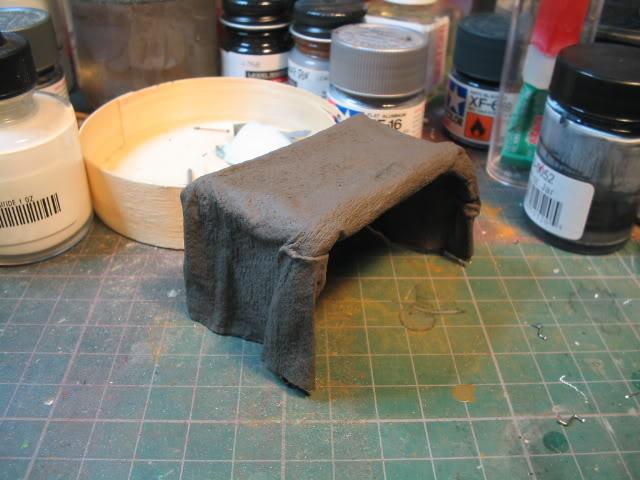 Fabrication d'une bâche (déroulée) au 1/35 Bachepeinte