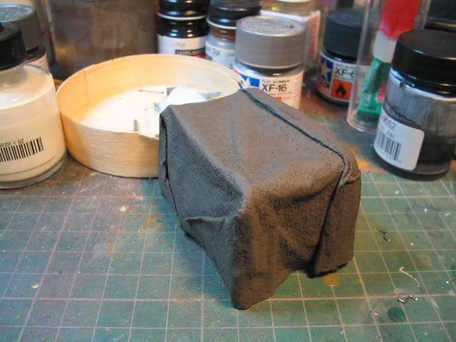 Fabrication d'une bâche (déroulée) au 1/35 Bachepeinte1