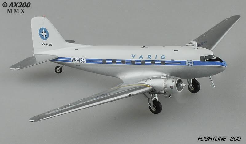 Miniaturas brasileiras DC3Varig004