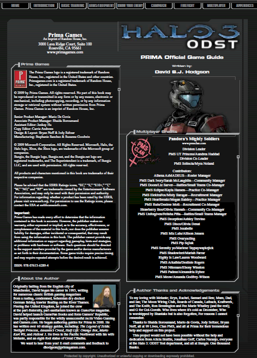The Making of a Strategy Guide: PMS Clan & Halo 3:ODST PrimaGuideF