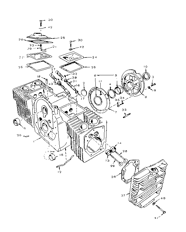 Onan 20hp Horizontal Shaft Opposed Piston Engine Diagrams