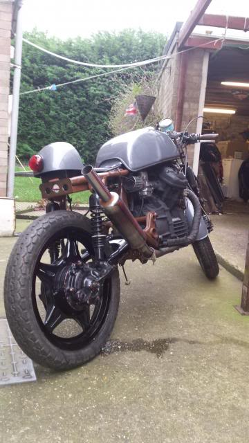 Jaymo's first cafe build - CX500 20140215_153658