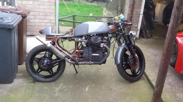 Jaymo's first cafe build - CX500 20140215_153824