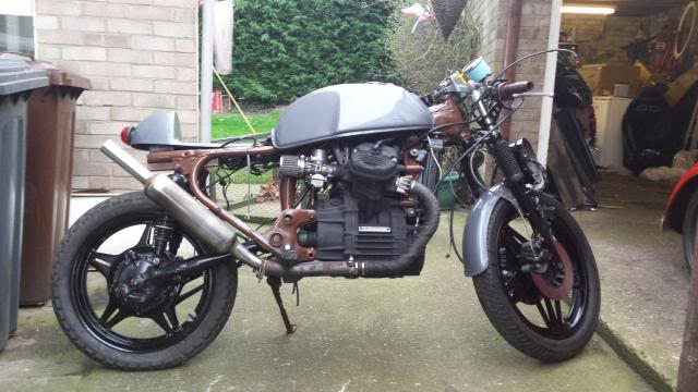Jaymo's first cafe build - CX500 20140215_153844