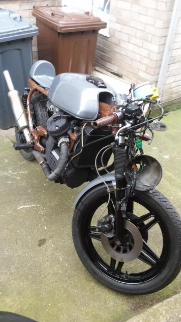 Jaymo's first cafe build - CX500 20140215_153857