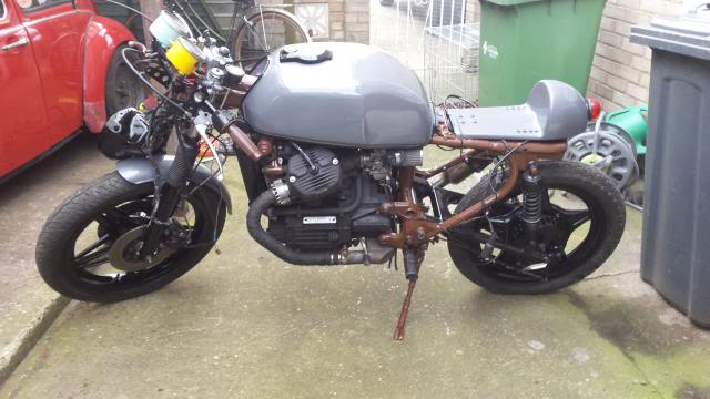 Jaymo's first cafe build - CX500 20140215_153927