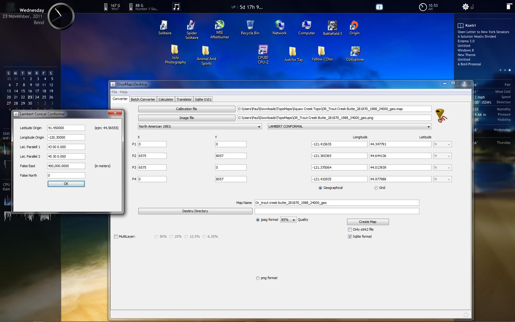 Datum and Projection Help needed OMDesktop