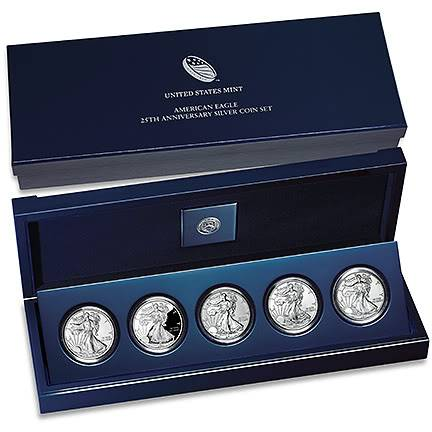 25th anniversary silver eagle set 25thannivsilvereagle