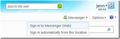 Messenger Online no Hotmail Web-im-hotmail