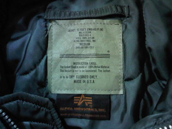 Alpha CWU 45/P Flight Jacket For Sale IMG00691-20101218-2231
