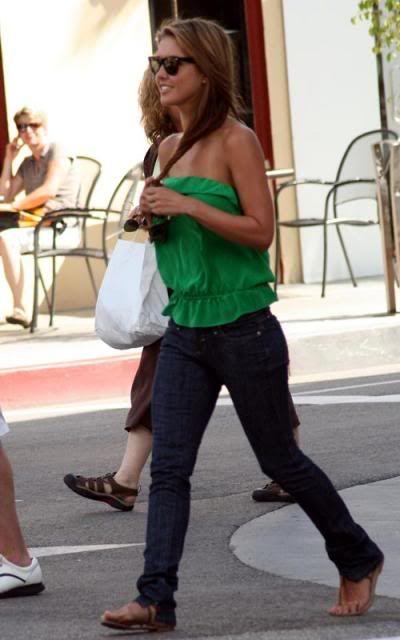 Audrina Patridge in jeans and a Strapless Green top Audrina-patridge-7109-4preview