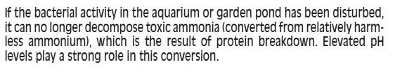 rust in pond removed Ammoniadescription