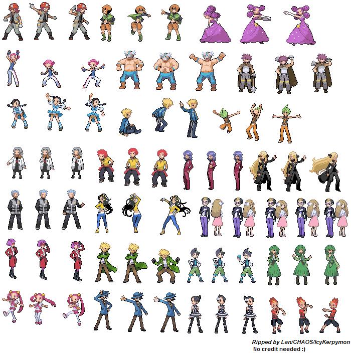Một số sprite trainer pokemon Trainers