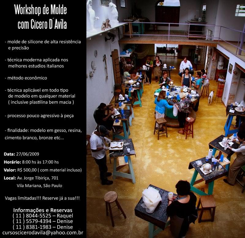 Workshop de molde de silicone Convite_Workshop