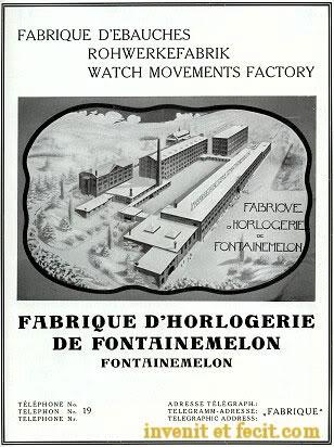 recherche info , historique marque FHF Fontainemelon-1935