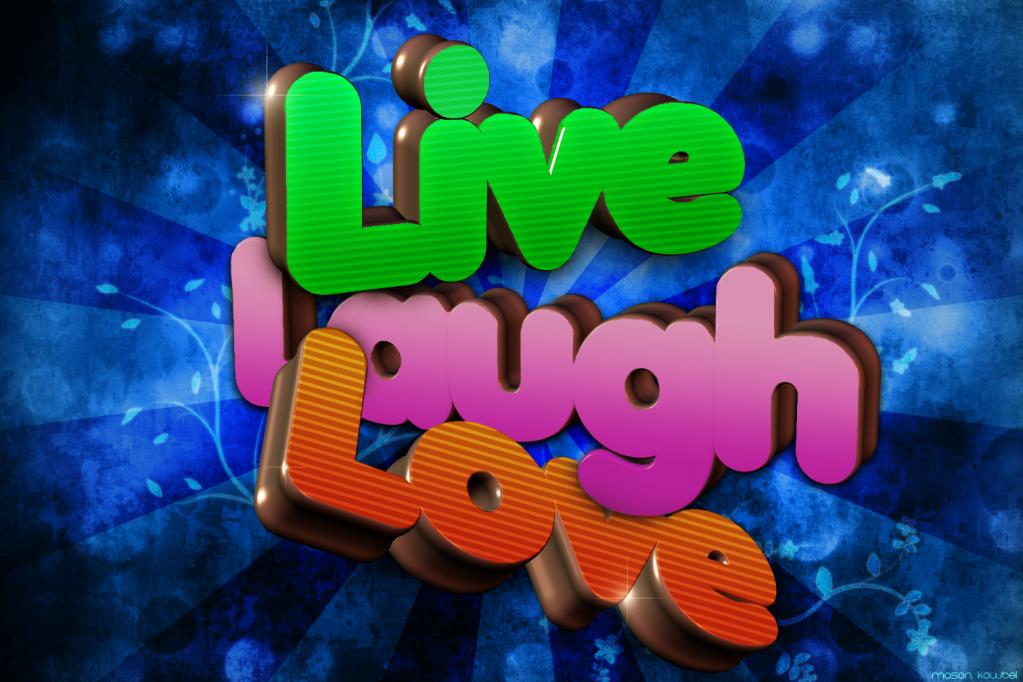 [Gfx] Live, Laugh, Love --School Project-- LivelaughloveFloral