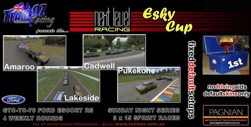 TeamOz Racing Presents: The Next Level Racing Esky Cup *Sunday Nights* 2011EskyCupPoster-2