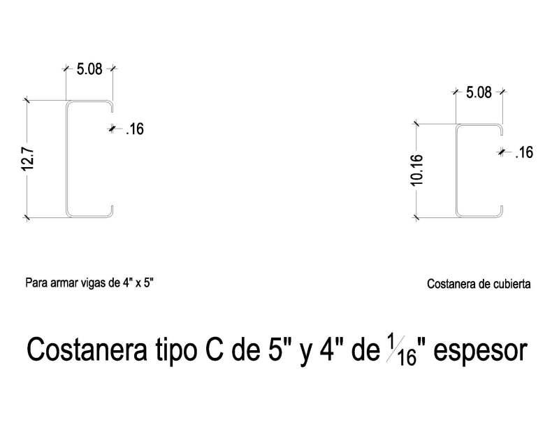 Consulta: Techo con perfil C Seccincostaneras