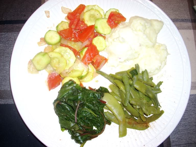 Picture of my plate of food Eveningmeal
