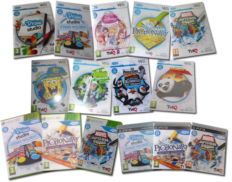 uDraw (Wii PS3 Xbox360) jeux et packs sortis en France Gamopat-jeuxfrance-udraw