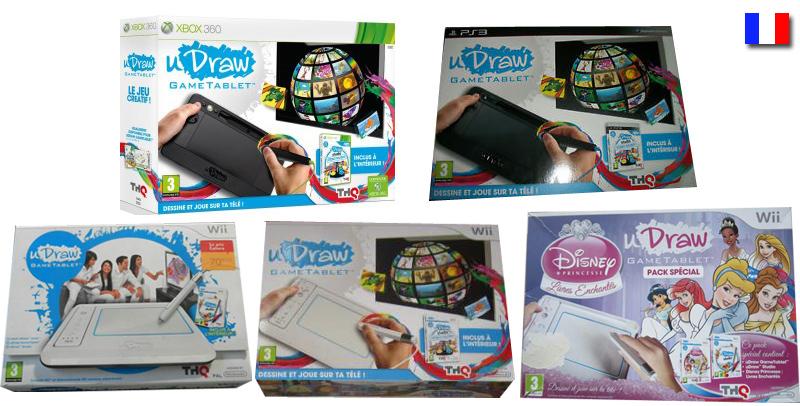 uDraw (Wii PS3 Xbox360) jeux et packs sortis en France Gamopat-packsfrance-udraw