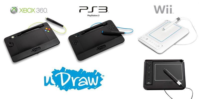 uDraw (Wii PS3 Xbox360) jeux et packs sortis en France Gamopat-tablettes-udraw