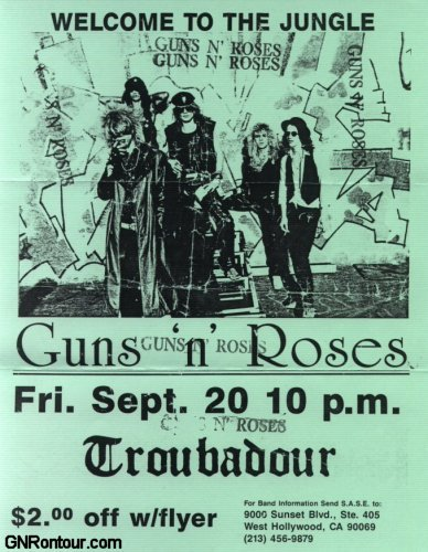1985.09.20 - The Troubadour, LA, USA 19850920flyer