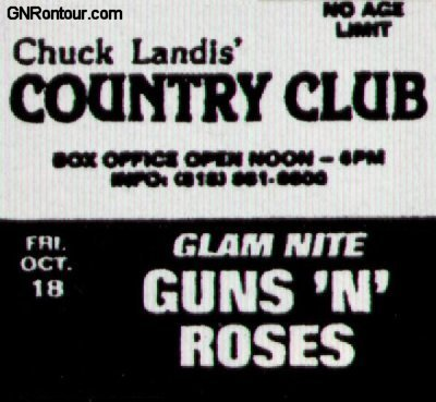 1985.10.18 - Country Club, Reseda, CA, USA 19851018flyer1