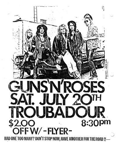 1985.07.20 - The Troubadour, Los Angeles, USA 19850720flyer