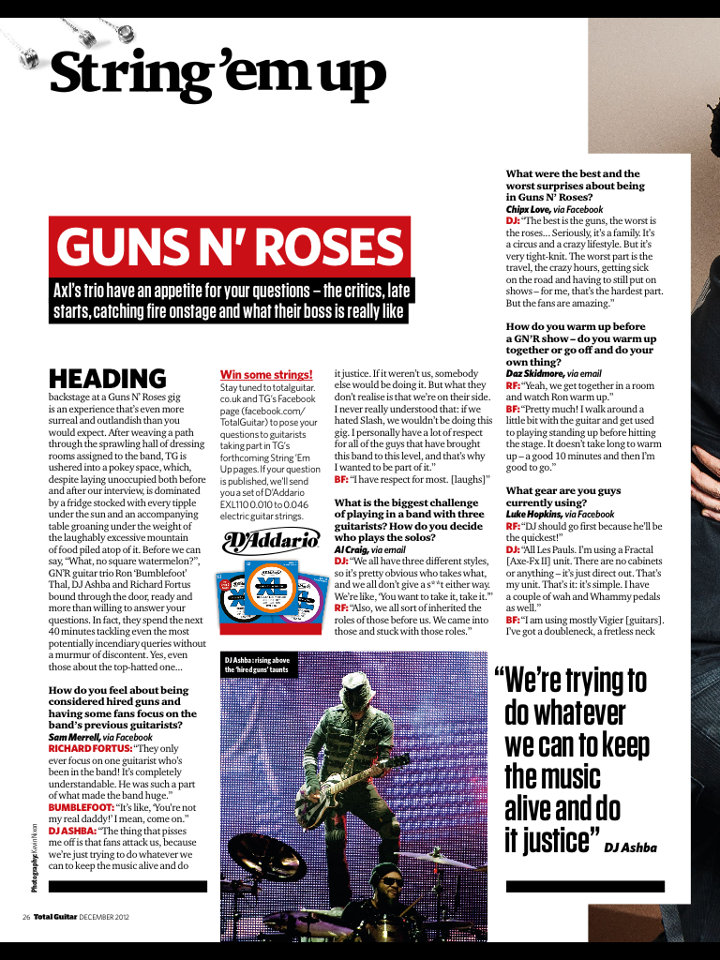 2012.12.XX - Interview with Richard, Bumblefoot and Dj in Total Guitar 532169_490519940969741_603797618_n
