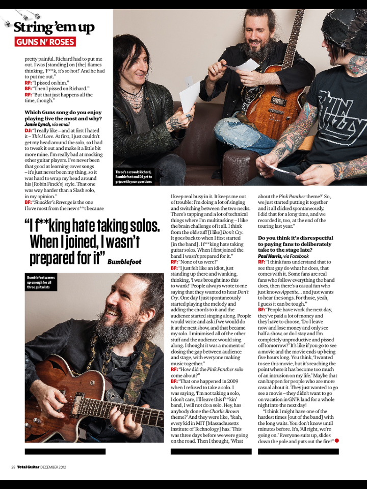 2012.12.XX - Interview with Richard, Bumblefoot and Dj in Total Guitar 535383_490523560969379_1142532579_n