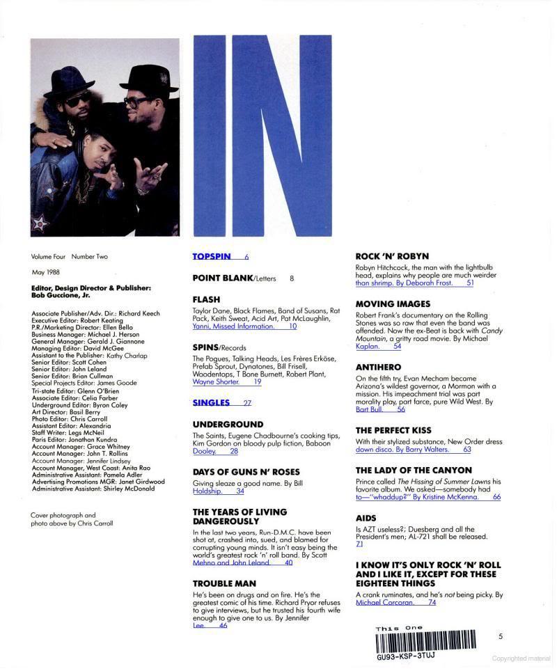 1988.05.DD - Spin - Days Of Guns N' Roses (Axl, Slash, Izzy, Duff) Books1-1