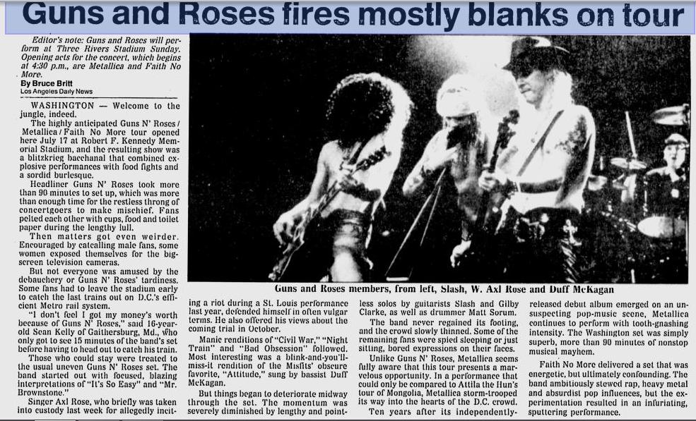 1992.07.17 - RFK Stadium, Washington, USA Utennavn-32